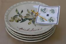 222 Fifth Olive Connoisseur Appetizer Dessert Plates - Set of 4