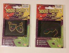 Mardi Gras Crystal Tattoos Eye Drama Mask Comedy / Tragedy Temporary Sticker New