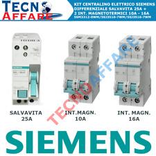 Kit Centralino Elettrico Differenziale Salvavita + 2 Interruttori Magnetotermici