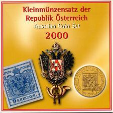AUSTRIA OFFICIAL SHILLNG MINT SET KMS 6 COINS 2000 UNC