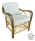 Vintage MCM Franco Albini McGuire Style Bamboo Bentwood Rattan Lounge Chair