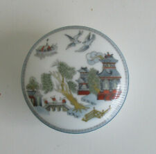 Blue Willow Gaudy Wedgwood China box