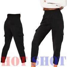 New Women Ladies Cargo Pocket Work Trousers Work wear Pants Polyester (8-18 UK)