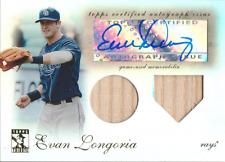 Evan Longoria 2009 Topps Tribute autograph auto card TDAR-EL /99