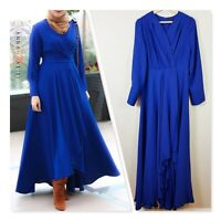 [ ANNAH HARIRI ] Womens Blue Modest Annah Abaya Dress  | Size AU 14 or US 10