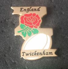 ENGLAND TWICKENHAM RUGBY UNION  ENAMEL PIN BADGE