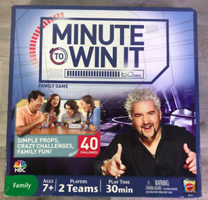 Minute To Win It Mattel Family Board Game NBC 2011 Complete