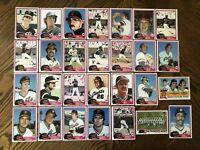 1981 SAN FRANCISCO GIANTS Topps COMPLETE MLB Team SET 28 Cards BLUE CLARK EVANS