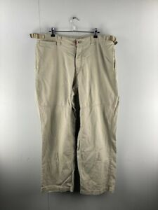Fat Face Mens Brown Casual High Rise Outdoor Chino Trousers Pants Size XL