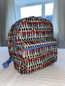 Cath Kidston Backpack Rucksack Bag Soldier's Guards in White Oilcloth