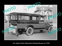 OLD 8x6 HISTORIC PHOTO OF LOS ANGELES POLICE DEPARTMENT P/B CAR c1930 LAPD