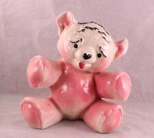 VINTAGE PINK BEAR BABY GIRL NURSERY PLANTER