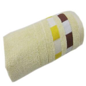 100%  Bamboo Fiber Rayon Towel Ultra Soft Absorbent  Cotton Edge Colors Plaid