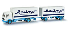 "Herpa Mercedes-benz Box Trailer ""malimo"" 1/87 H0 303194"