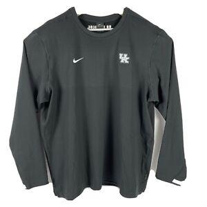 Nike Dri Fit Kentucky Wildcats On Field LS Pullover Black CQ5049-010 Mens 3XL