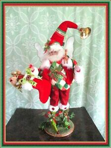 """Mark Roberts Retired  """"CHRISTMAS STOCKING"""" Fairy Elf  with stand @ 20"""""""