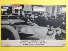 cpa FRANCE PARIS SALON de l'AUTOMOBILE 1913 Voitures Car Show Raymond POINCARÉ