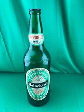"18"" Vintage Glass Heineken's Lager Beer Holland Promotional Advertising Bottle"