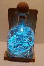 Custom handmade Patron Silver Lightning in a Bottle Lamp
