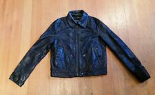 Ralph Lauren Polo Leather Motorcycle Jacket Womens Size S Nice Pre-Owned Cond.