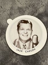 Vintage Dixie Cup Ice Cream Lid With Movie Stars ~ Jack Carson
