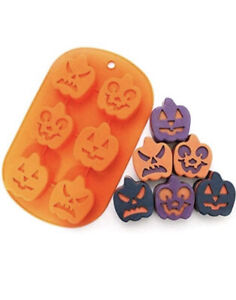 2 Pack Halloween Molds Silicone Candy Chocolate Soap Mold Pumpkin Baking