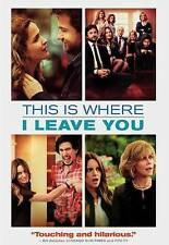 THIS IS WHERE I LEAVE YOU (DVD, 2014, No Digital Copy) NEW
