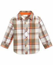 First Impressions Baby Boys Plaid Shirt Color Angel White 18 months