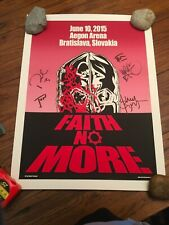 FAITH NO MORE FULLY AUTOGRAPHED CONCERT POSTER 2015 Doctor Sewage