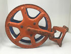 Antique 1900 Cliff & Guibert NYC Fire Hose Reel Hotel Theater School Free Ship