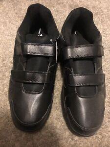 Cross Trekkers Men's Double Strap Walker Wide Shoes Black Color size 15 W