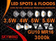 Skywing COB LED Spot Reflektor Lampe Strahler GU10 MR16 220V 12V 3.5W 4W 5W 5.6W