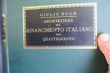 Baum, Giulio, Architettura del plastica decorativa del rinascimento italiano