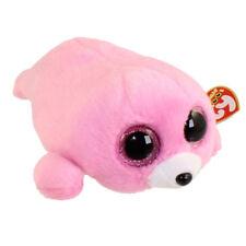 "Ty 6"" PIERRE Pink Seal Beanie Boos Plush Stuffed Animal New w/ Heart Tags MWMT's"