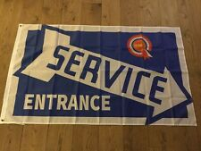 BMC Mini Land Rover MG Triumph Daimler Riley service entrance workshop flag