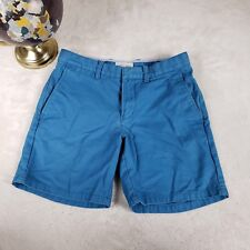Nordstrom 1901 Sz 30 Shorts Casual Luxury Slim Fit Flat Front Preppy Blue