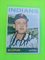 1964 TOPPS Signed Autograph #184 Al Luplow Indians