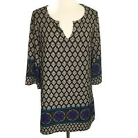 Honey Punch Women's Tunic Long Sleeve Shirt Dress Boho Hippy M  A51