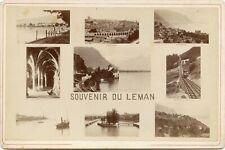 SOUVENIR DU LEMAN - Geneve ca. 1900 Kabinettfoto