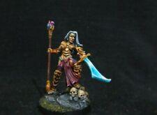 Reaper Miniatures,Carinth, Dark Elf Sorceress (Metal) Painted D&D, Dark Sword,