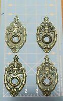 4 Vintage Brass PENN RB 535 Rosette Ornate