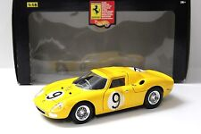 1:18 Hot Wheels ferrari 250 LM #9 Yellow New en Premium-modelcars