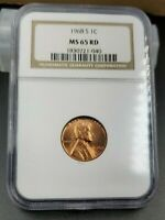 1968 S Lincoln Memorial Cent Penny Coin MS65 RD NGC CH BU UNC