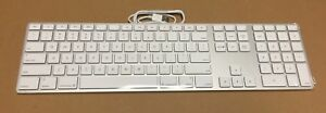 NEW Apple MB110LL/B Wired Keyboard - Silver/White