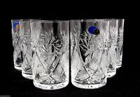 Set of 6 Russian Tea Glasses for Holder Podstakannik - Soviet Crystal Glassware
