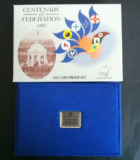2001 RAM CENTENARY OF FEDERATION 6 COIN PROOF SET