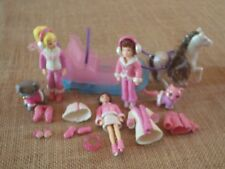 Polly Pocket Dolls Winter Sled Horse Clothes Coats Snow Mittens Skates Lot Y19