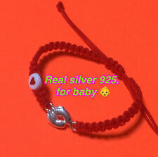 Silver 925 Baby Foot Handmade For Baby 👶 Red Protection Bracelet