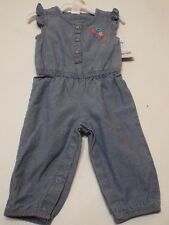 Baby Girls LOVE blue romper carters Jumpsuit embroidered pink by Carters sz 3 m