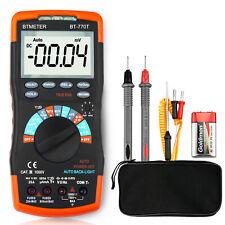 Digital Multimeter Truerms Ac Dc Ncv Hfe Diode Capacitance Resistance Temp Test